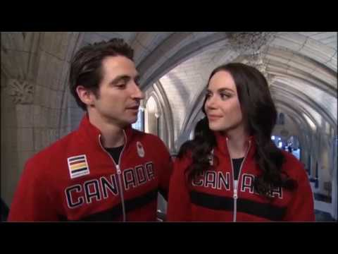 Tessa and Scott Flag Bearers Interview CBC (With Scott Russell)