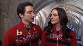 Tessa and Scott Flag Bearers Interview CBC (With Scott Russell)
