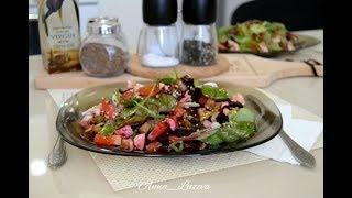Легкий салат со свеклой и курицей!