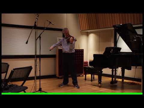 Martin Chalifour plays JS Bach in IPR's Studio A