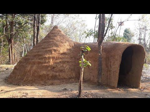 Primitive Times: On the ground primitive mud hut Part 1/2 - Primitive Technology