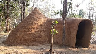 Primitive Times: On the ground primitive mud hut Part 1/2 - Primitive Technology