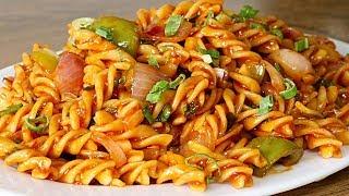Chinese Sauce Pasta  Indo Chinese Pasta Recipe  Kanak&#39s Kitchen