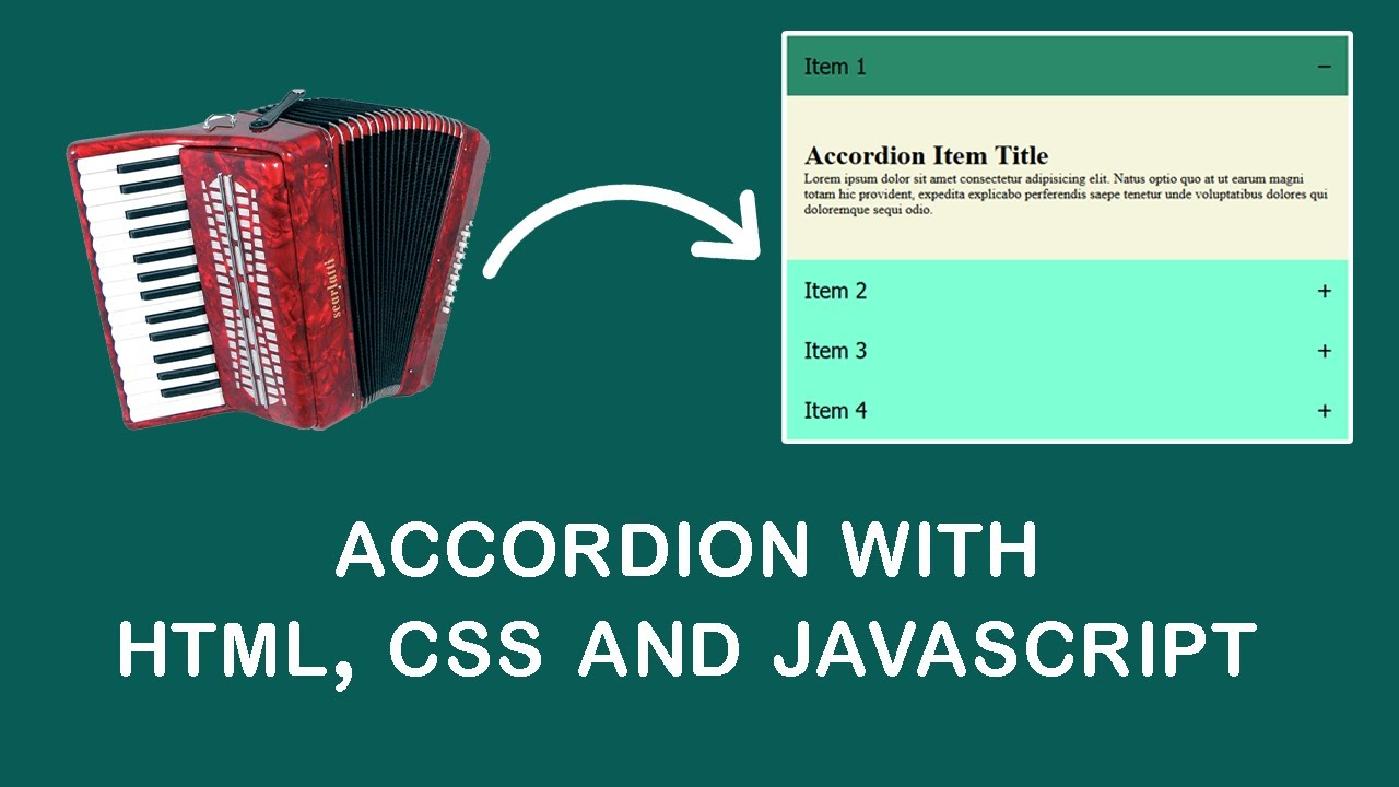 How Create An Accordion With HTML, CSS, JavaScript