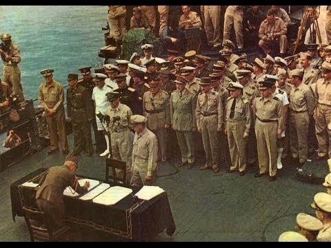 Japanese Surrender in HD Color 1945