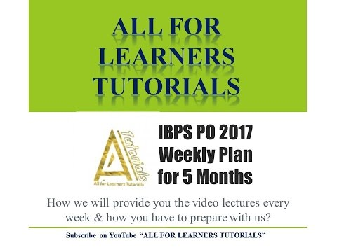 Weekly Plan to crack IBPS PO 2017