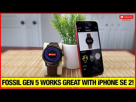 Fossil Gen5 (wear OS Watch) With IPhone!