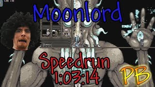 Terraria Speedrun Normal Moonlord PB 1:03:14