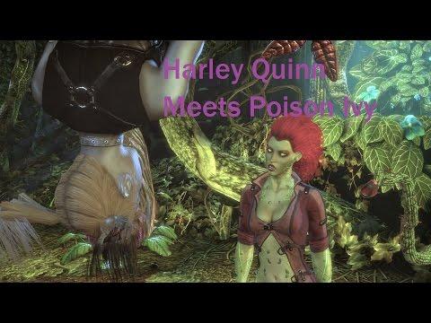 Batman Arkham City Harley Quinn Meets Poison Ivy |