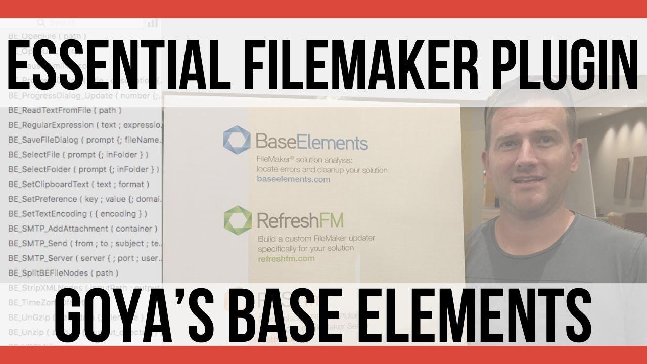 Base Elements Plugin | Interview with Nick Orr | FileMaker Training |  FileMaker Plugins