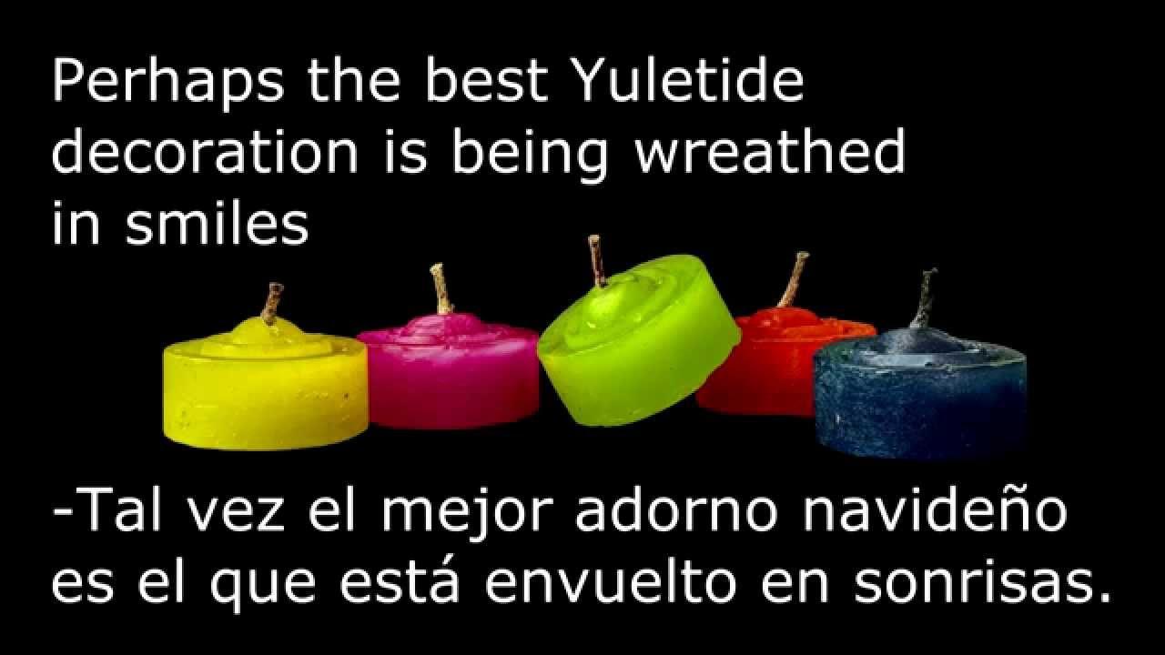 Frases De Navidad En Ingles Y Español 2019 Parte 2 De 4 Youtube