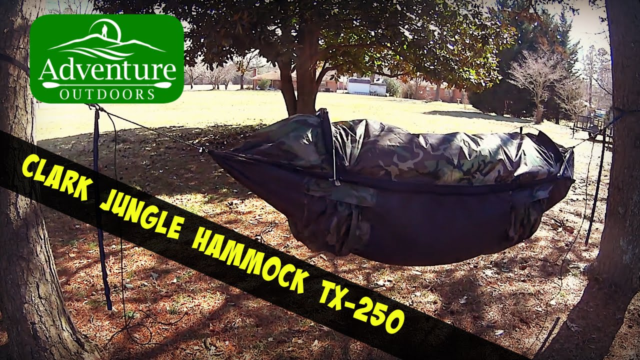 Medium image of camping gear   clark jungle hammock tx 250   hammock camping at its best