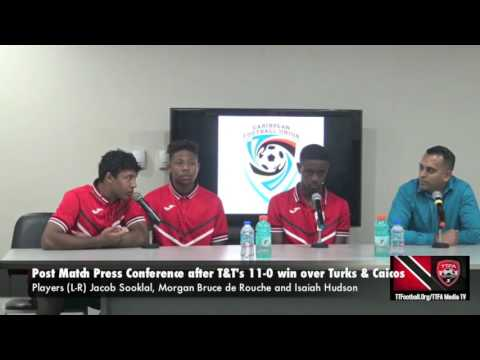 T&T Under 20 Trio at Post Match Press Conference