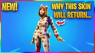 *NEW* WHY THE ONESIE SKIN WILL RETURN IN FORTNITE... | Fortnite Info