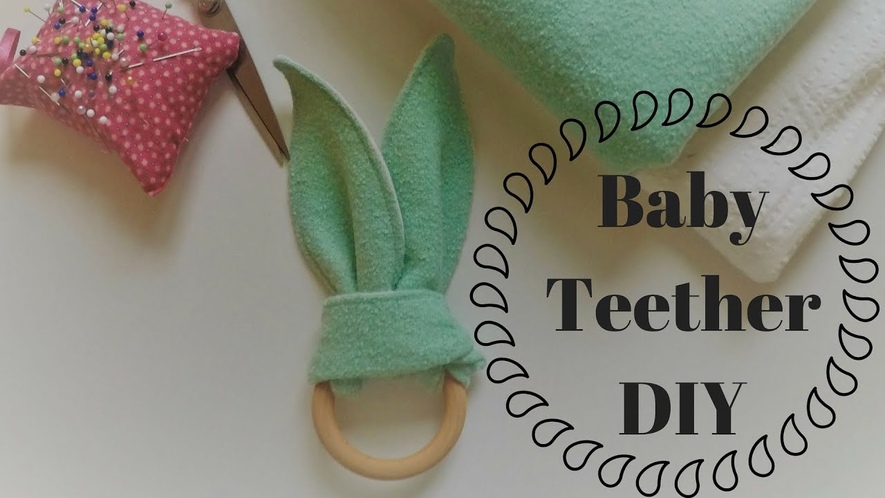 Girly bandana bibs + a wooden ring teether tutorial see kate sew.