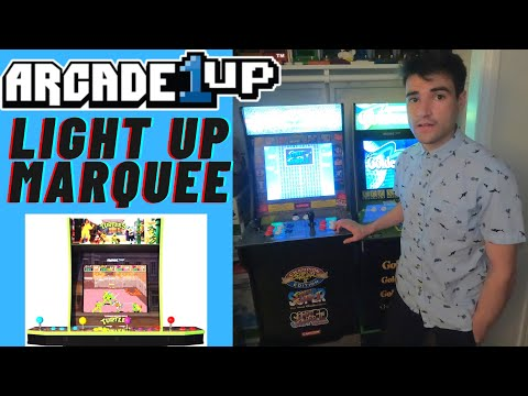 OFFICIAL ARCADE1UP TMNT AND STREET FIGHTER LIGHT UP MARQUEE REVIEW from Brick Rod