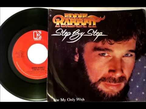 Step By Step , Eddie Rabbit , 1981 Vinyl 45RPM
