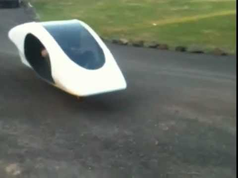 Gyroscopic Covered Cycle Prototype - Hover and Glide on in-line wheels