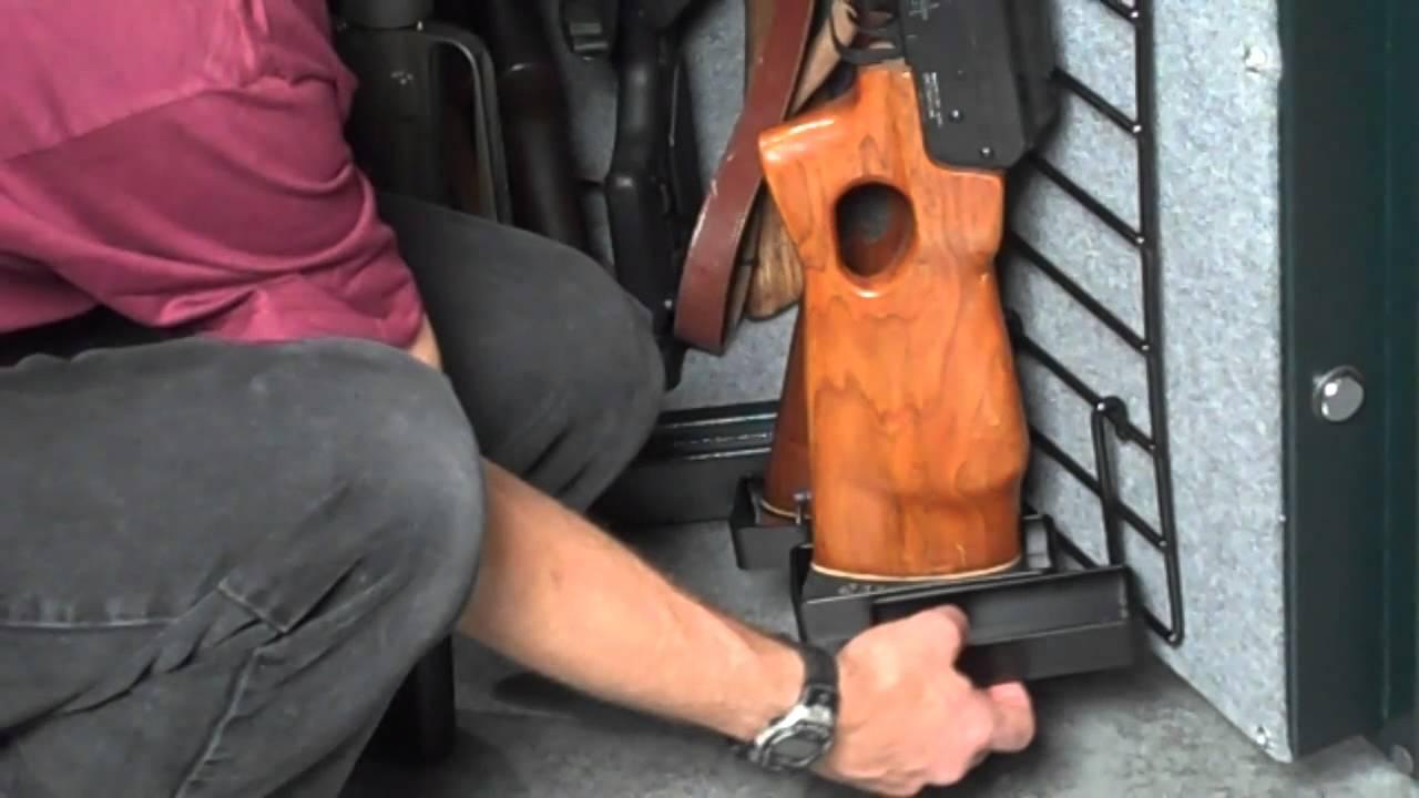 Install a RackEm Rifle Rack in your gun safe  YouTube