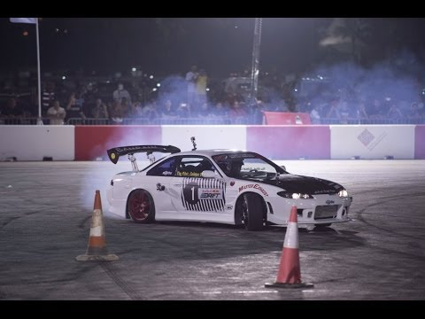 Behind the wheel of Red Bull Car Park Drift - Bahrain