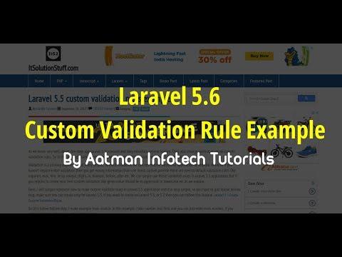 Laravel 5 5 custom validation rules example