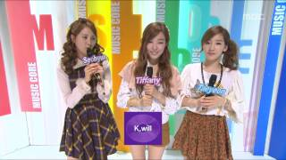Opening, 오프닝, Music Core 20121103
