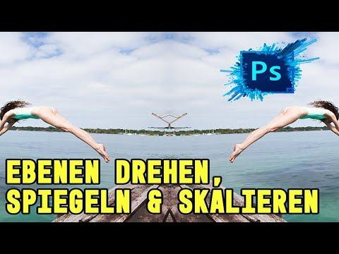 Photoshop Tutorial Deutsch | Ebenen Drehen, Spiegeln, Skalieren | Photoshop Grundlagen Lernen