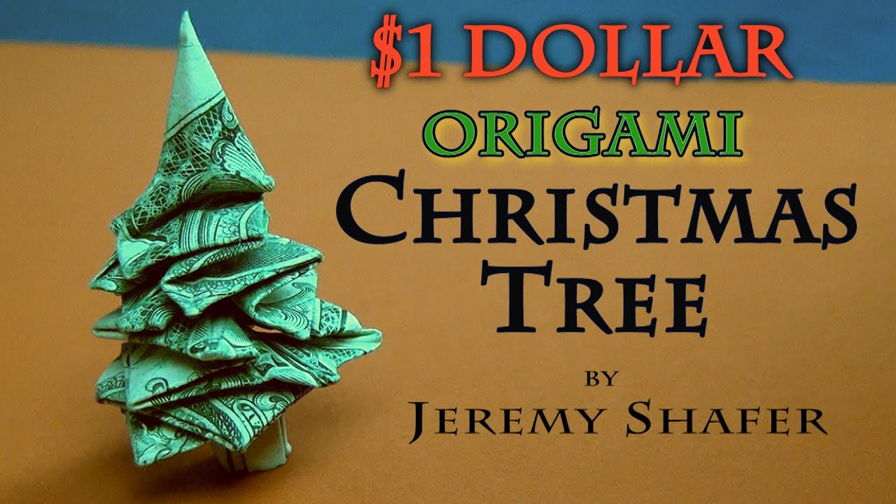 $1 Origami Christmas Tree - YouTube - photo#16