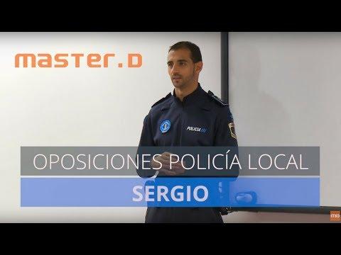 Sergio aprobó las Oposiciones de Policía Local con MasterD