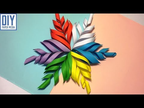 How to make 3D snowflake with paper | DIY origami snowflake tutorials