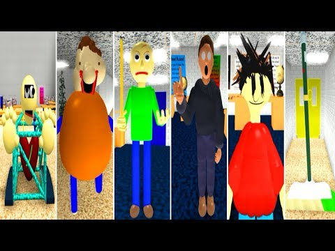Play as ALL CHARACTERS!! Baldi's Basics Roleplay