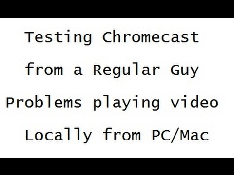 Testing Chromecast. Can't play wmv format.  Appears as blank screen.  Other formats do not play.