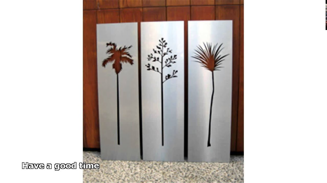 Stainless steel wall art youtube for Stainless steel wall art