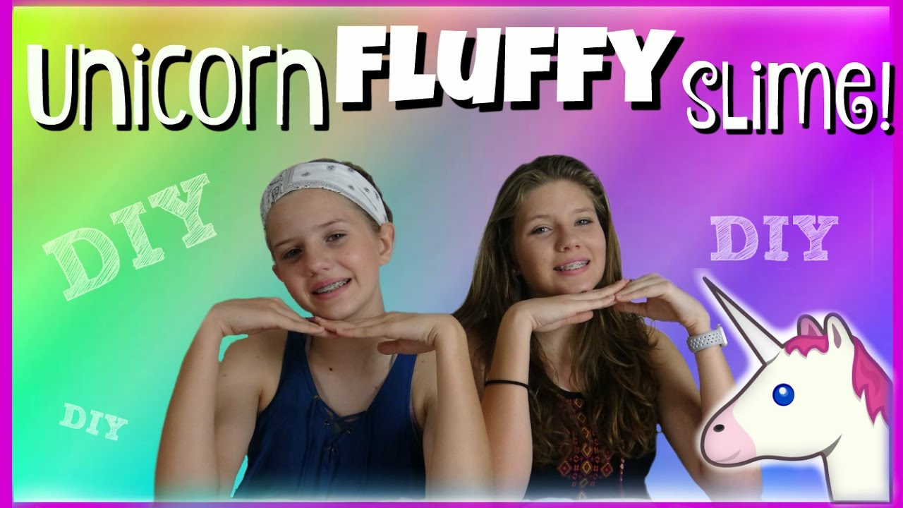 Unicorn Fluffy Slime Diy \ How To  Taylor And Vanessa
