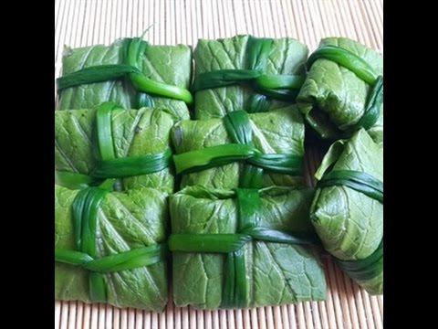 Cách làm cải bẹ xanh cuộn cá thác lác hấp gừng