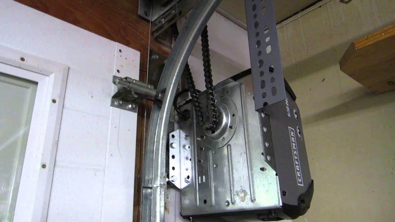 Garage Door Opener Parts Diagram 06 Yamaha Raptor 700 Wiring Craftsman Side Mount Jackshaft - Youtube