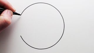 Quick and easy way to draw a perfect circle freehand! The trick is ...