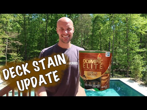 Olympic Elite Deck Stain UPDATE - One Year Later