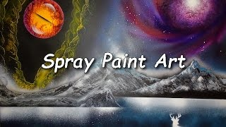 Spray Paint Art, Eye of the god, beautiful univers
