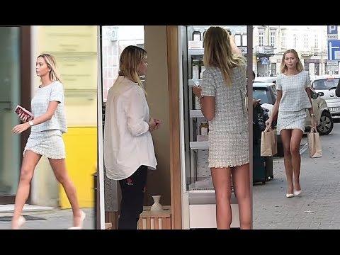 Długie nogi Sandry Kubickiej w sklepie z sokami…