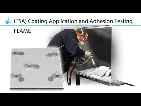 Thermal Spray Aluminium TSA Coating Application And Adhesion Testing - Flame