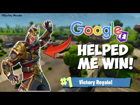 USING GOOGLE TO WIN! (Fortnite Battle Royale)