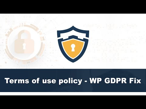 Terms of use policy - WP GDPR Fix