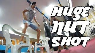 Stupid Stunt | Huge Punching Bag Nut Shot W/ La Fênix, Nub Tv And Mmmv!