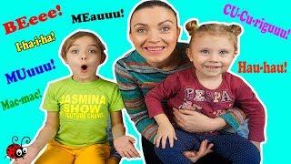 Cum face Vacuta? Invatam Limbajul Pasarilor si a Animalelor Domestice   Video Educativ pentru Copii