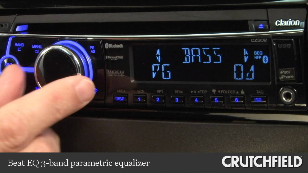 Clarion Cz302 Cd Receiver Display And Controls Demo Crutchfield Changer Cz100 Wiring Diagram Video Youtube