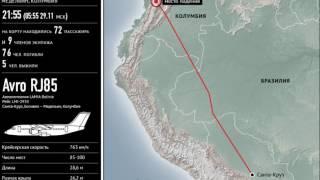 Крушение самолета в Колумбии  Маршрут и характеристики лайнера