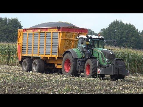 Loonbedrijf Wesselink in de mais met New Holland FR500 + Fendt 930 & 718 Vario (2017)