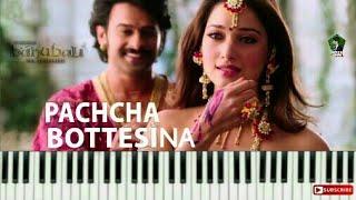 Pachcha Bottesina Full Song ||KEYBOARD Version|| Prabhas, Rana, Anushka, Tamannaah || Bahubali