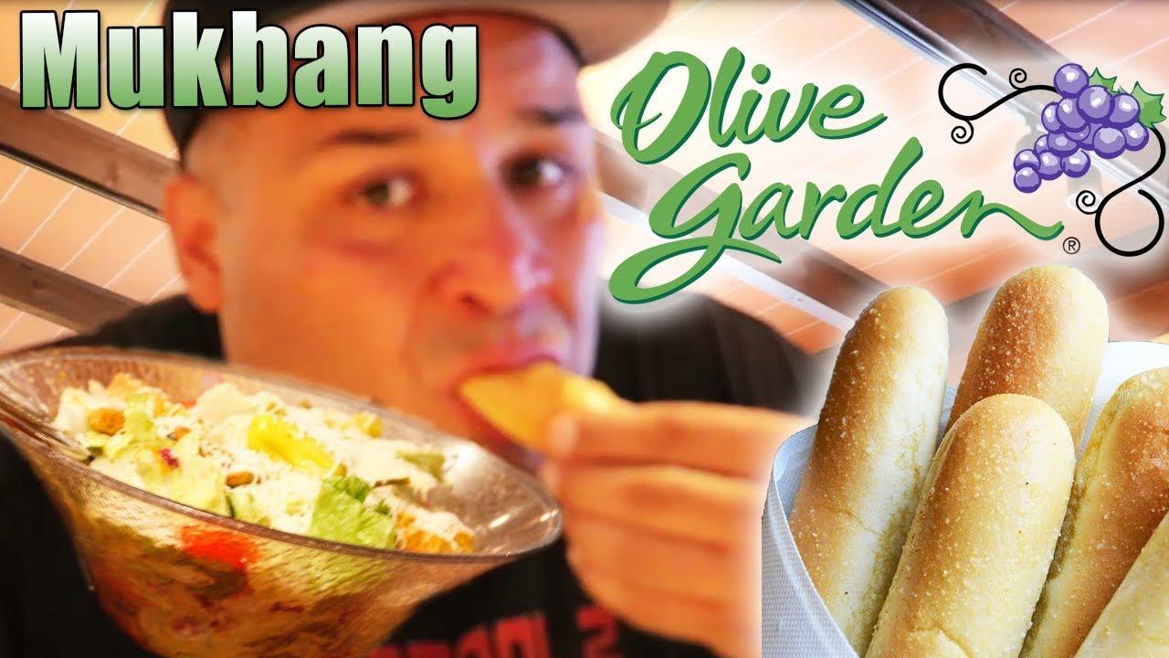 soup salad and breadsticks at olive garden mukbang - Olive Garden Soup Salad And Breadsticks